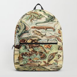 Reptiles II by Adolphe Millot // XL 19th Century Snakes Lizards Alligators Science Textbook Artwork Backpack