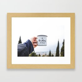 Travel Mug. || Italy. || Road Trip Experience. || Adventure. || Freedom. || Mountains. Framed Art Print