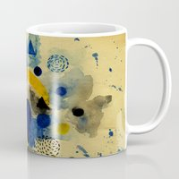 chemistry Mugs featuring Floating Chemistry by Marcelo Romero