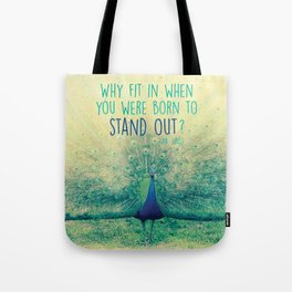 Peacock Spreading Feathers Tote Bag