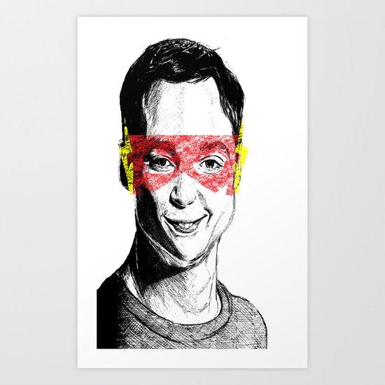 Sheldon Flash Art Print