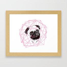 P U G  Framed Art Print