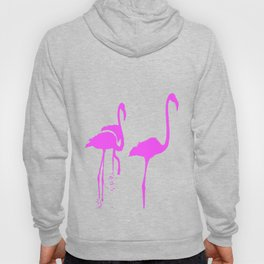 Three Flamingos Pink Silhouette Isolated Hoody