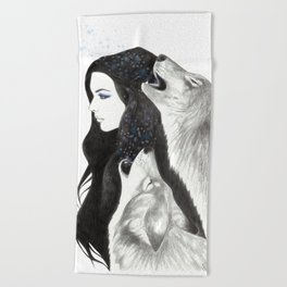 Winter Song Beach Towel