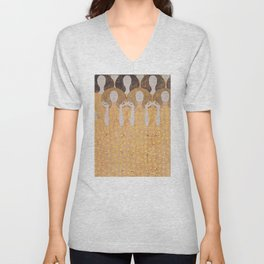 Gustav Klimt - Choir of Angels (Chor Der Paradiesengel) Unisex V-Neck