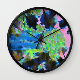 landscape collage #02 Wall Clock