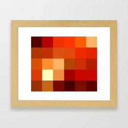 BLOCKS - RED TONES - 1 Framed Art Print