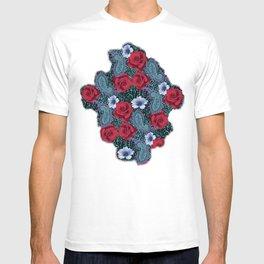 Rose Paisley w skin T-shirt