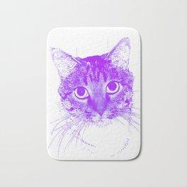 Jazz, drawing, purple Bath Mat