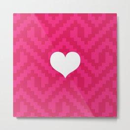 Pink Locking Love Metal Print