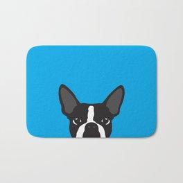 Boston Terrier Blue Bath Mat