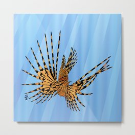 Stained Glass Lionfish Metal Print