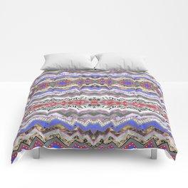 Red Violet Pink Rose Garden Aztec Comforters