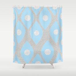 Eye Pattern Blue Shower Curtain