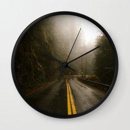 Pacific Northwest Roadtrip Wall Clock