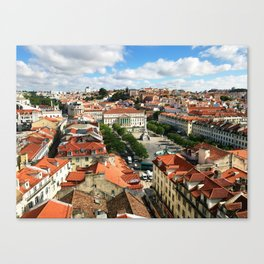 Praca Rossio, Lisbon from Above Canvas Print
