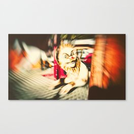 FUNFAIR - LION (Carousel Blur Retro) Canvas Print