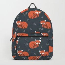 Red Panda Pattern Backpack