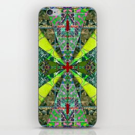 number 238 green on green with red pattern iPhone Skin