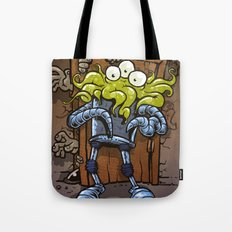 monsters at the door Tote Bag