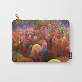 Dreamscape with poppies and orbs Carry-All Pouch