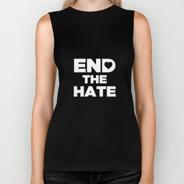 End The HATE With Heart Stop Bullying Anti-Bullies Biker Tank
