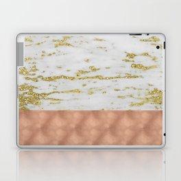 Gold faraldi marble and rose gold Laptop & iPad Skin