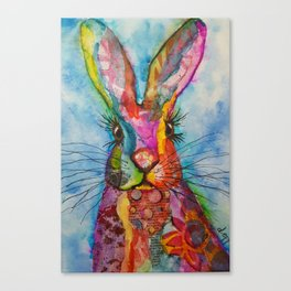 Trudy the Hare Canvas Print