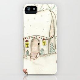 Festive Christmas Scene iPhone Case