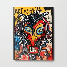 Art as a will to live Graffiti Street Art Metal Print