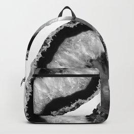 Gray Black White Agate Finesse #1 #gem #decor #art #society6 Backpack
