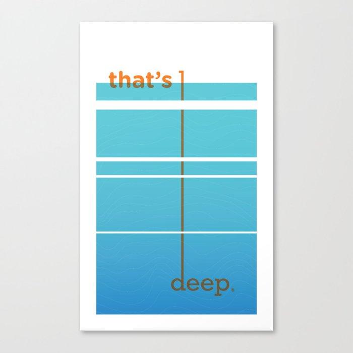 Dude, woah... Canvas Print
