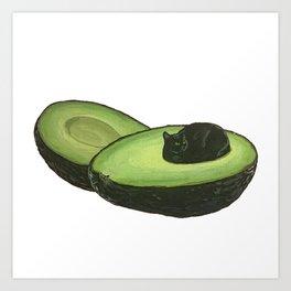 Avocado Cat Art Print