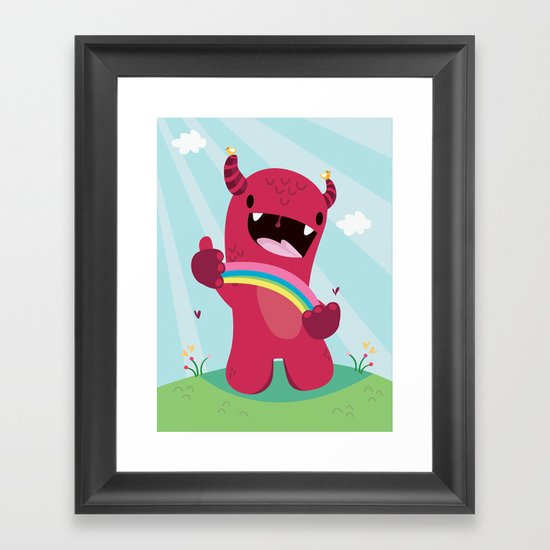 Nature monster Framed Art Print