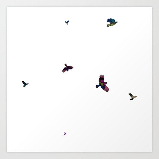 Artsy birds Art Print