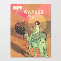 wanderlust Canvas Prints featuring Wanderlust by Isabel Arenas