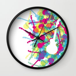 Rainbow Guitars Wall Clock