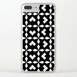 optical pattern 37 Clear iPhone Case