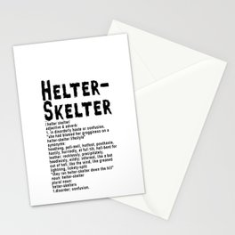 Helter Skelter (black on White) Stationery Cards