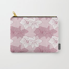 Burgundy Hellebores Carry-All Pouch