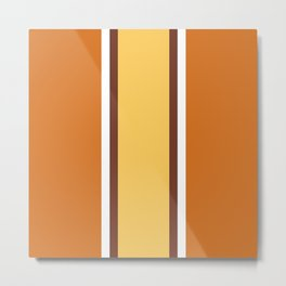 Orange and yellow striped art Metal Print