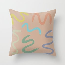 Serpientes - Snakes Throw Pillow