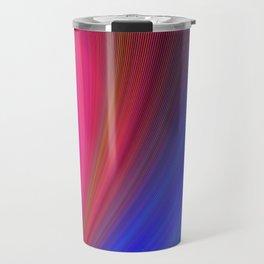 Fractal Art Waves of Elegant Color Design Travel Mug