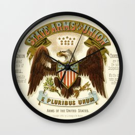 State arms of the union / 1876 Wall Clock