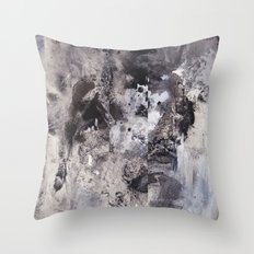 Monochrome Chaos Throw Pillow