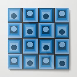 Hypnotic Blue Metal Print
