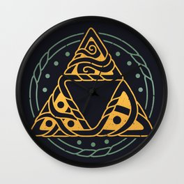 The Golden Power // Viking, Gaming, Norse Wall Clock