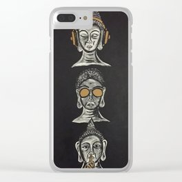 THE THREE WISE BUDDHAS Clear iPhone Case