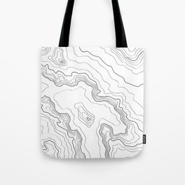 Topography map Tote Bag