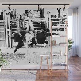 Rodeo Bull Rider Wall Mural